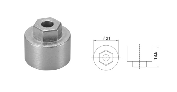Adaptor for arm 13 mm